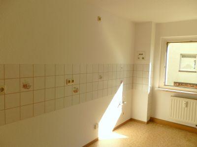 Küche mit Fliesenspiegel, Fenster
