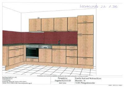 7121 - 1 DG li - Galerie Küche