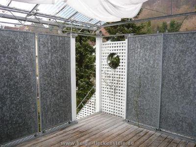 Glasüberdachte Terrasse m. Schiebewänden