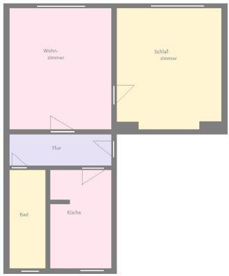 Grundriss 2- Raum- Wohnung