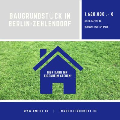 Baugrundstück für Mehrfamilienhaus im schönen Zehlendorf