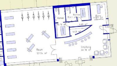 Grundriss Büro 1 im EG