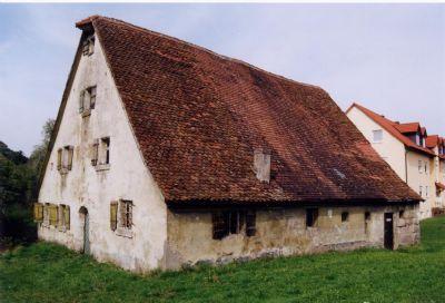 Typisch fränkisches Bauernhaus mit Steilsatteldach