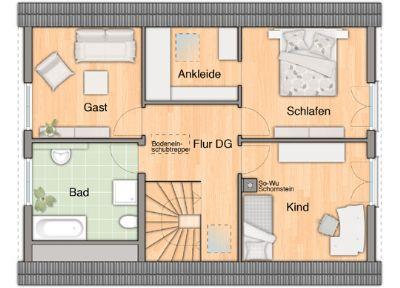Grundrissmöglichkeit vom OG mit 4 Zimmern
