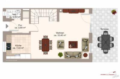 neubau doppelhaush lfte im alten dorfkern lohhofs zu vermieten einfamilienhaus. Black Bedroom Furniture Sets. Home Design Ideas