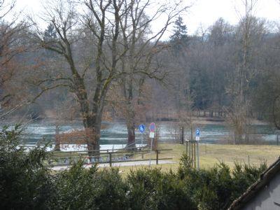 Bild 1 Blick auf den Rhein,  von Balkon Südseite