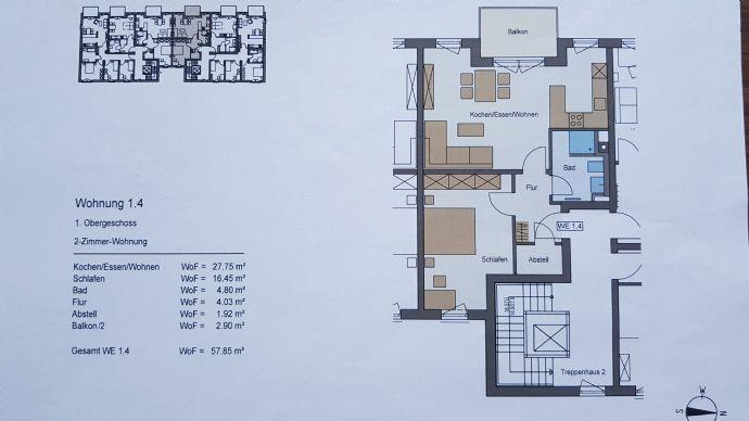 Landshut 2-Raum-Wohnung im 1. Stock