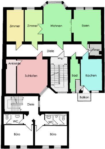 **schöne 5-Raum-Altbauwohnung im Zentrum**