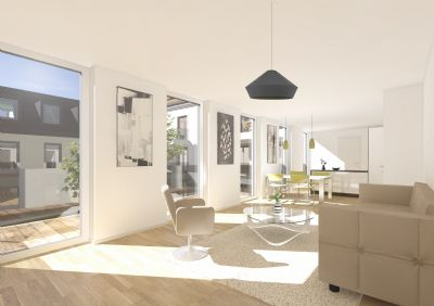 4 zimmer wohnung im 1 og neubau provisionsfrei weitere grundrisse verf gbar etagenwohnung. Black Bedroom Furniture Sets. Home Design Ideas