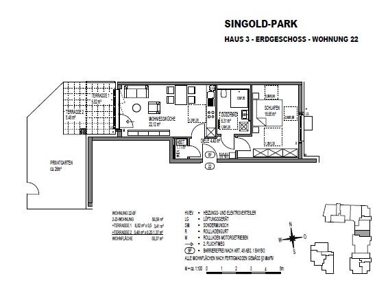 Zentrale 2 ZKB mit Terrasse und Privatgarten!