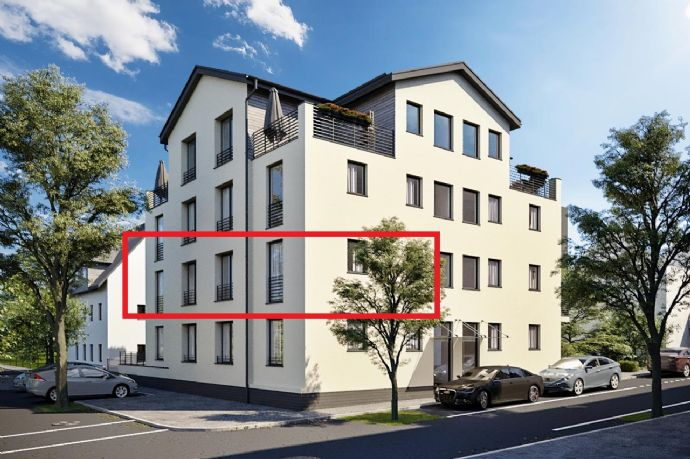 3,5-Zi Wohnung Neubau mit hochwertiger EBK im 1. OG, Balkon, Aufzug  & TG Stellplatz im Gmünder Sü