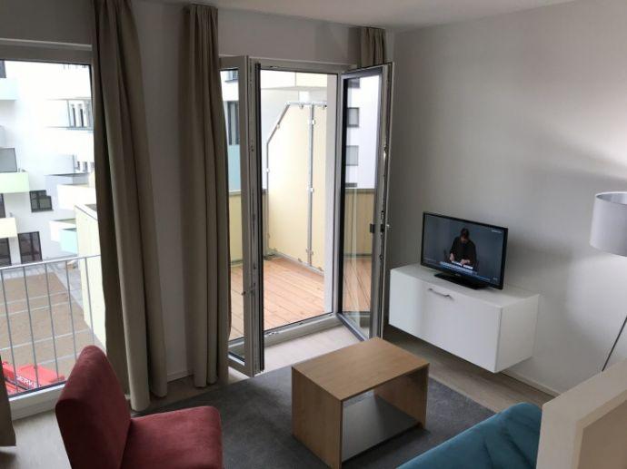 Stilvolle 1,5-Zimmer-Wohnung mit Balkon und EBK, voll möbiliert