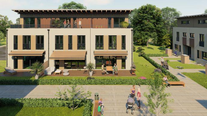 Wohngebiet W7 Lerchenwinkel, Neubau von 4 Dreispännern (12 Reihenhäuser) mit je 2 Tiefgaragen Stellplätzen - Haus 4