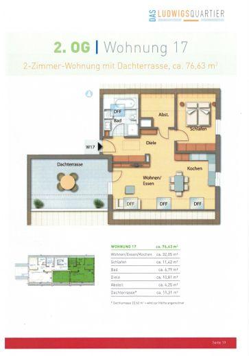 Exclusive 2-Zimmer-Neubau-Wohnung mit großer Dachterrasse