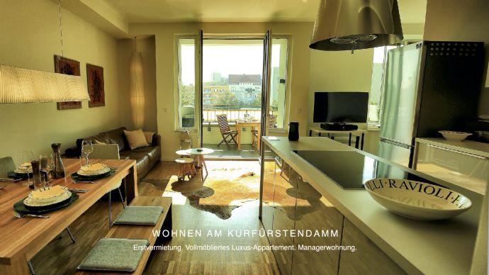 VILLA BERLIN. Vollmöbliertes Luxus-Appartement am Kurfürstendamm. Erstvermietung.