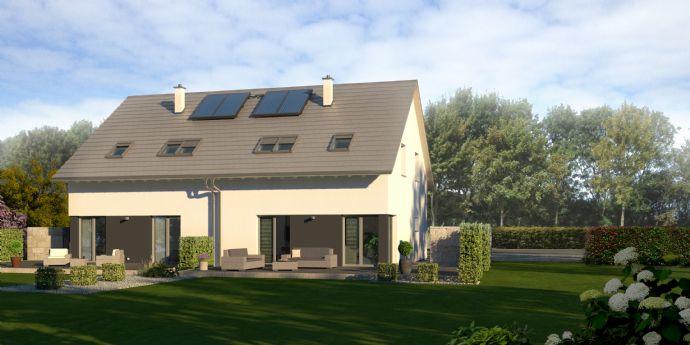 Wohnen in Stadtnähe - Neubau-DHH komplett bezugsfertig mit Grundstück
