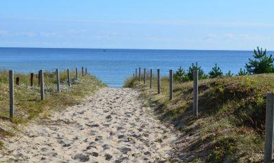 typischer Strandaufgang