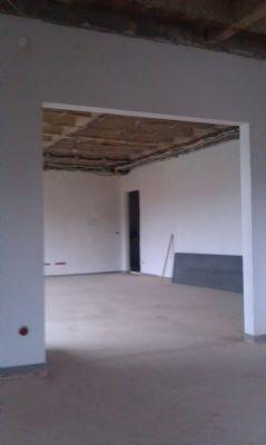 Hauptwohnung: Blick aus Küche in Wohn-/Essbereich