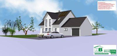 Haus 1 Süd-Ost Garage mit Satteldach