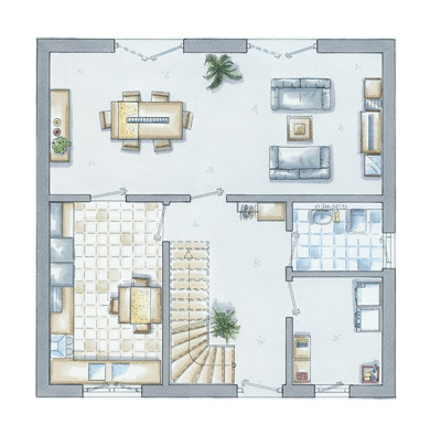 Grundriss Erdgeschoss New Line
