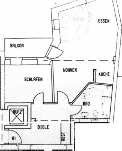 Südstadt - Möblierte 2-Raum-Wohnung mit Balkon am Stadtpark Wohnung ...