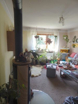 ansprechendes 3 familien wohnhaus mit erker dachterrasse gartenterrasse fischteich garagen. Black Bedroom Furniture Sets. Home Design Ideas