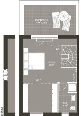 Grundriss Dachgeschoss Alternative