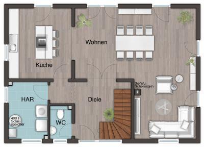 Siersburg landhaus modern stadthaus rehlingen siersburg for Moderne raumaufteilung
