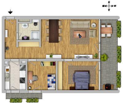 stilvolle modernisierte 3 zimmer wohnung in gepflegtem. Black Bedroom Furniture Sets. Home Design Ideas