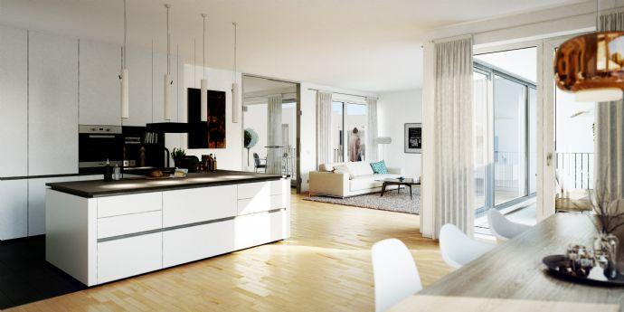 Geht besser? Penthouse mit rund 70 qm Wohnen/Essen/Kochen ...