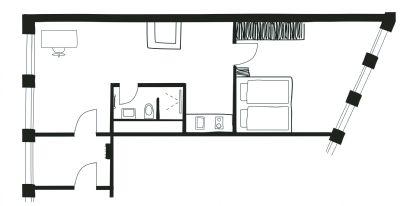 m bliertes apartment in neuer studenten wohnanlage i 42 m 50 m i ab 895 i typ elbstrand. Black Bedroom Furniture Sets. Home Design Ideas