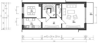 ger umige 4 5 zimmer wohnung ber 2 etagen von privat im ruhigen 3 familien haus maisonette. Black Bedroom Furniture Sets. Home Design Ideas