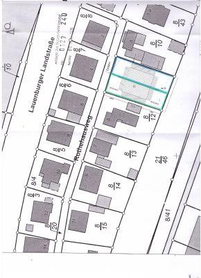 Lageplan Grundstücksteilung