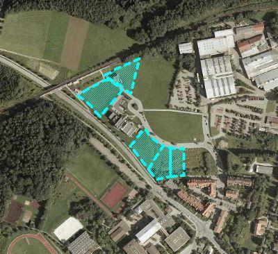 Luftbild mit freien Flächen
