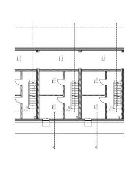 Kellergeschoss Grundrisszeichnung Reihenmittelhaus