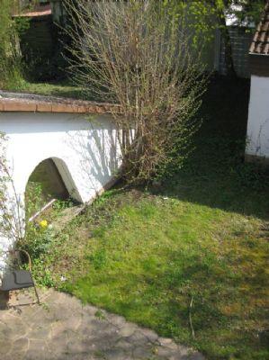 Teilansicht Garten vom Dacheinschnitt
