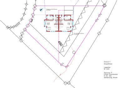 Aufteilung Grundstück