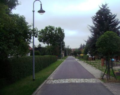 Die neue Zufahrtsstraße zum Gutshaus