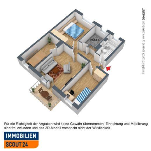 pssst familie aufgepasst hier ist viel platz f r eine kleine familie etagenwohnung. Black Bedroom Furniture Sets. Home Design Ideas