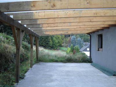 Terrassenüberdachung Rohbau