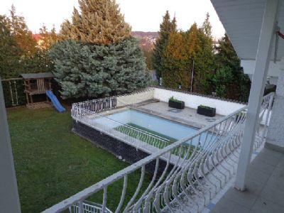 Blick vom Schlafzimmerbalkon in den Garten