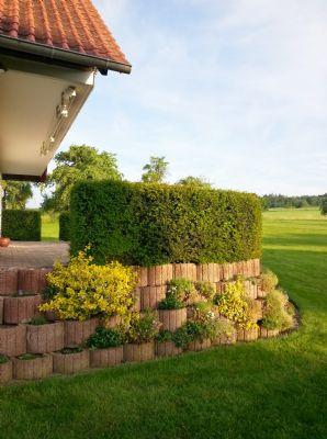 Terrasse mit Blick zum Ortsrand