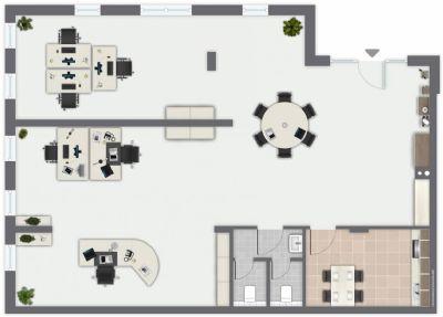 Grundriss Bürofläche
