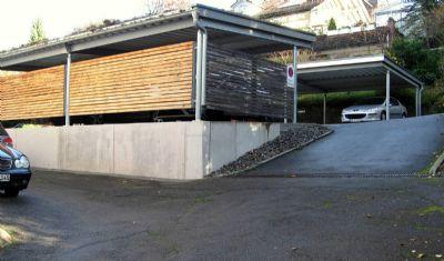 Carport-Anlage Zufahrt Bocksburgweg