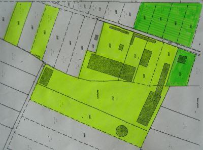 Grundstücksplan (optionale Flächen in grün)