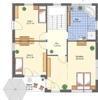 bauhausstil modern und sch n inkl balkon mit 167 m keine schr gen in kfw 55. Black Bedroom Furniture Sets. Home Design Ideas