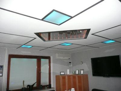 eine ganz besondere Beleuchtung des Wohnzimmers