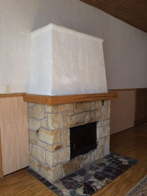Kamin im Wohnzimmer EG