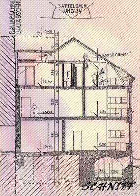 Planung zur Bauanzeige 97: Schnitt