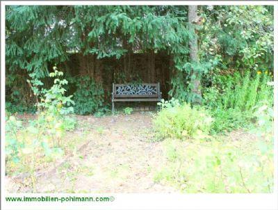 Ruhebank im hinteren Gartenbereich